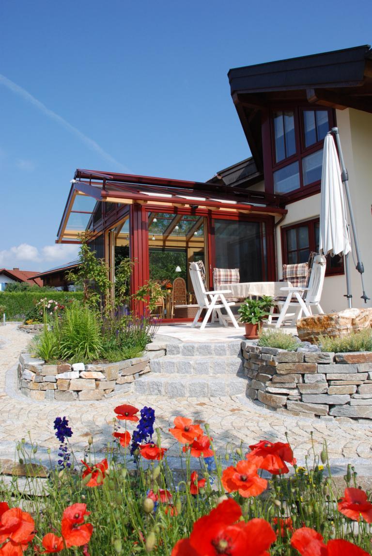 satteldachwintergarten mit vordach brack wintergarten. Black Bedroom Furniture Sets. Home Design Ideas