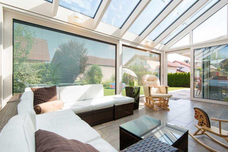 Wintergarten als Wohnraum gestaltet