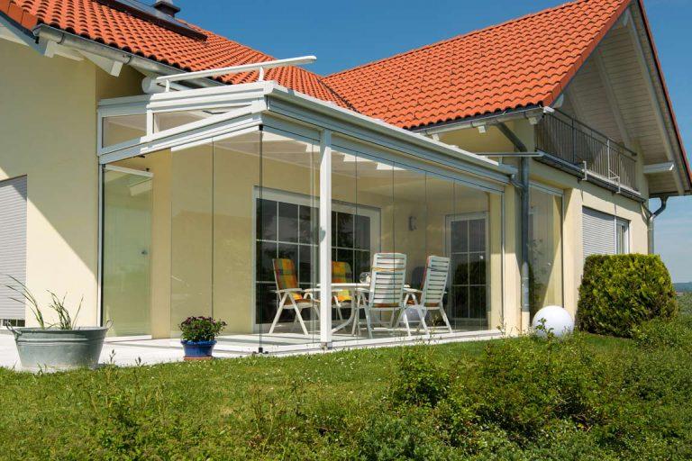 Überdachung Terrasse mit viel Glas