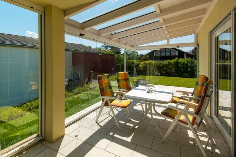 Regenschutz und Sonnenschutz Terrasse