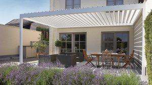 Terrassen Überdachung mit Lamellendach