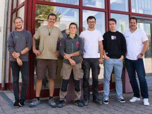 Neue und bekannte Mitarbeiter bei Brack.